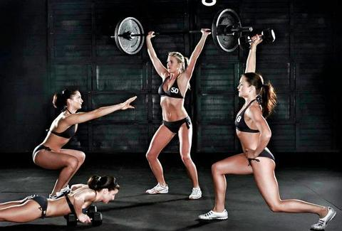 Sweat AC fitness models in action