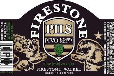 Firestone Walker Pivo Pils beer label