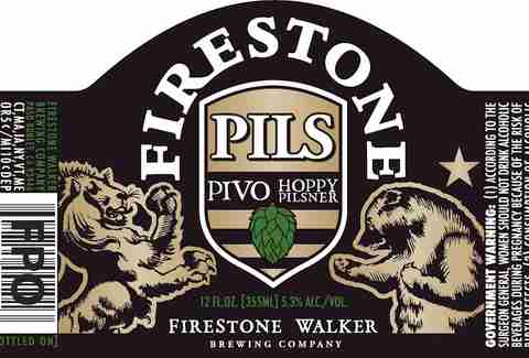 Firestone Walker Pivo Pils beer label