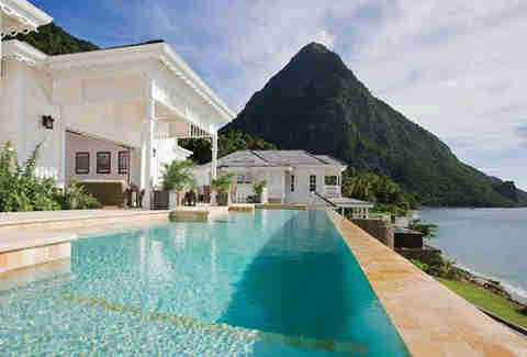sweet resort on st. lucia