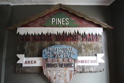 The Pines' sign