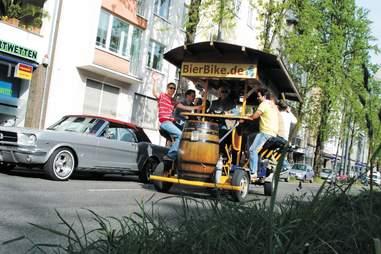 Guys on the bier bike