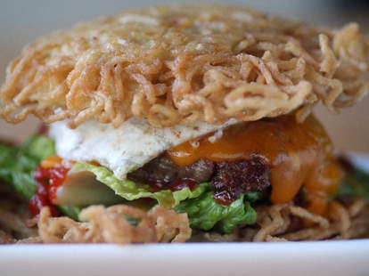 Ramen Burger at Buzz Bar in North Center