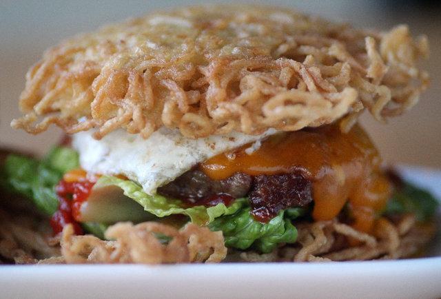 dorm ramen recipes Meet Buzz the    Bar burger Chicago  Thrillist ramen