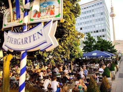 Outside at the Hofbrau Berlin