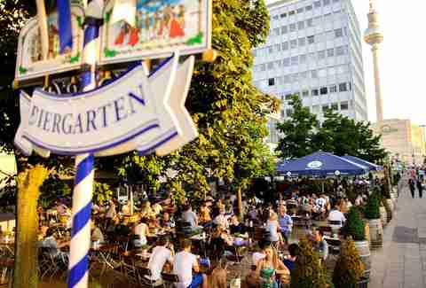 Outside at the Hofbrau Berlin