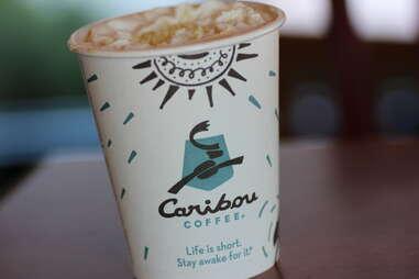 Caribou Coffee pumpkin white chocolate mocha