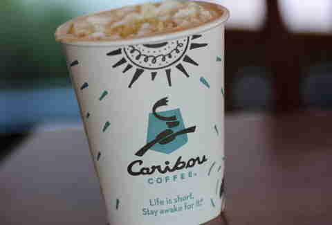 Caribou Coffee pumpkin white chocolate mocha