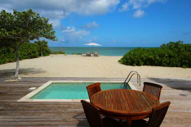 Back yard at Parrot Cay by COMO
