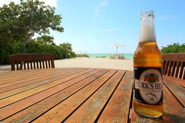Turks Head Beer at Parrot Cay by COMO