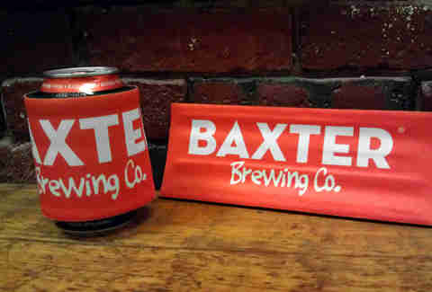 Can of beer from Baxter Brewing Co.