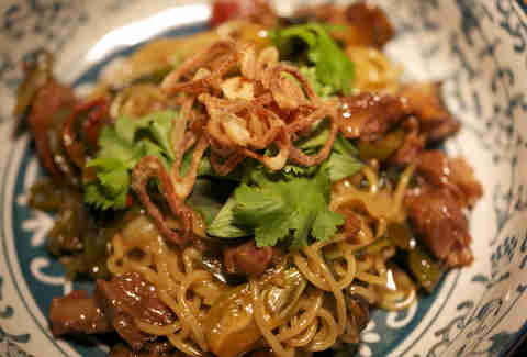 The Pork Cheeck Noodles at Fatty 'Cue