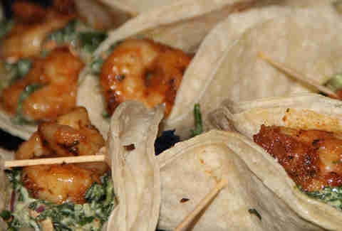 Red Pepper Taqueria Blackened Shrimp Tacos