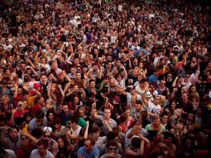 A horde of people
