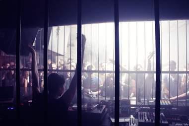 People behind bars at Tresor