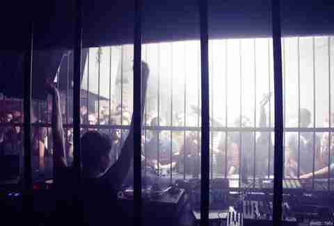 People behind bars at Tresor