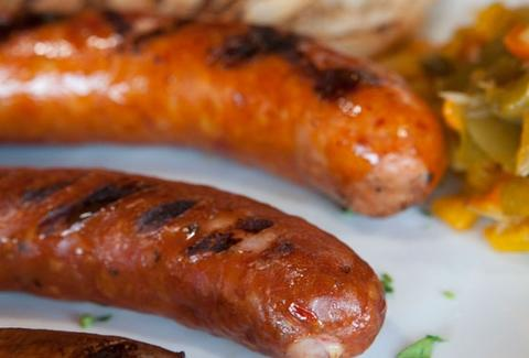 Mahoney's grilled sausage.