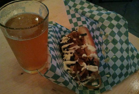 Beer and a hot dog