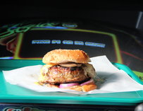 A burger from Action Burger