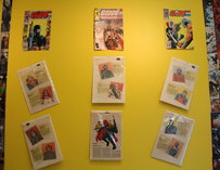 Comic book-adorned walls