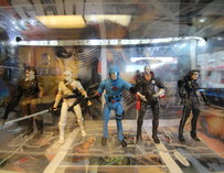 Action figures decorating the counter display