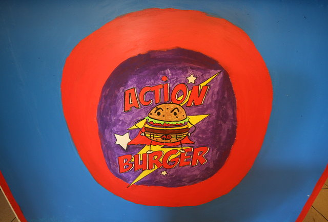 A burger joint/arcade for superheroes only