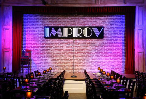 The Improv stage in Atlanta