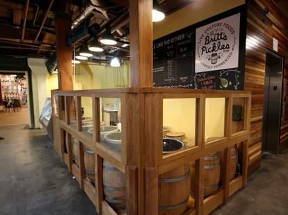 Interior of Britt's Pickles in Seattle