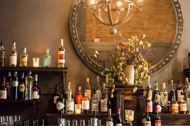 E Smith Mercantile Back Bar Interior