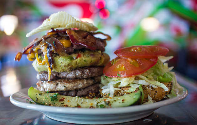 Mile High's most over-the-top burger can feed four people, is spectacular