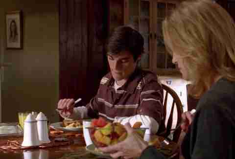"Walt Jr breakfast ""Over"" Breaking Bad"
