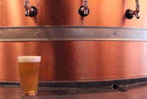 Self serve taps at BRU