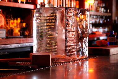 Ice block at Bergerac