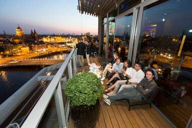 View from the SkyLounge balcony
