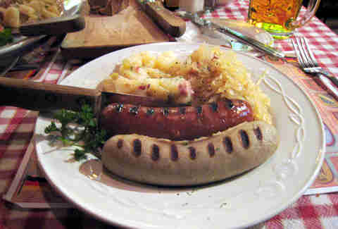 Bratwurst from Laschet's Inn in North Center