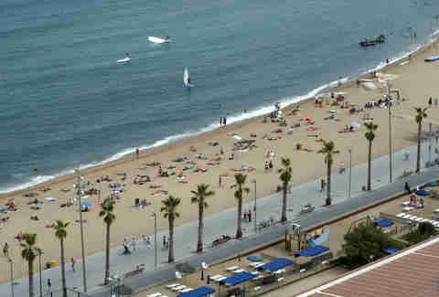 Barcelona, Spain, on the beach