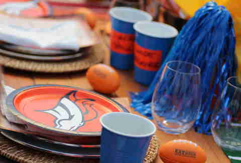 Broncos tailgate party
