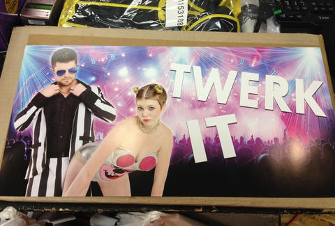 Miley Cyrus Robin Thicke Halloween costume