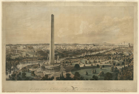 Unbuilt Washington D.C. Washington Monument image