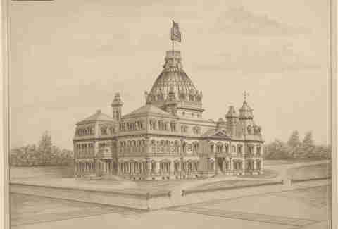 Unbuilt Washington D.C. Library of Congress image