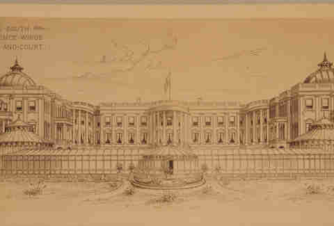 Unbuilt Washington D.C. White House/ Executive Mansion image