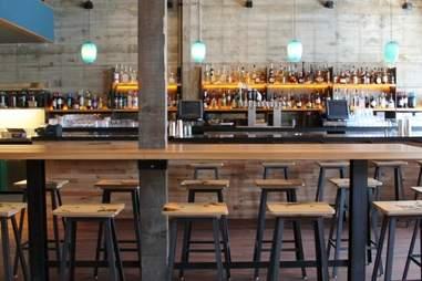 The bar at Comal