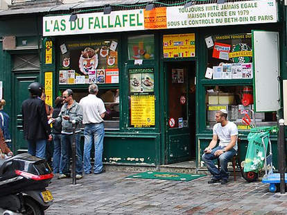 Outside L'As du Fallafel