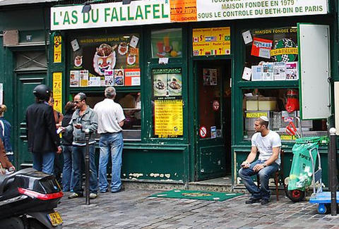 Outside L'As du Fallafel