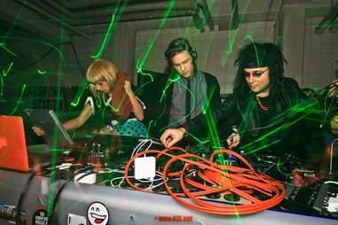DJs inside Stattbad