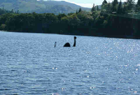 Loch Ness Monster in Scotland.