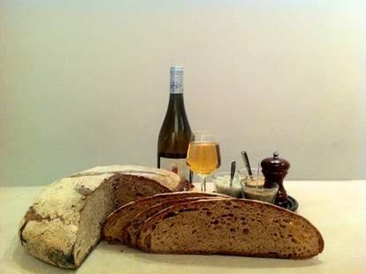 Bread and wine from Poilane Paris