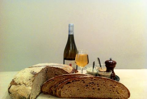 Bread and wine from Poilane Paris