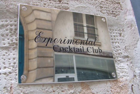 Sign for Experimental Cocktail Club