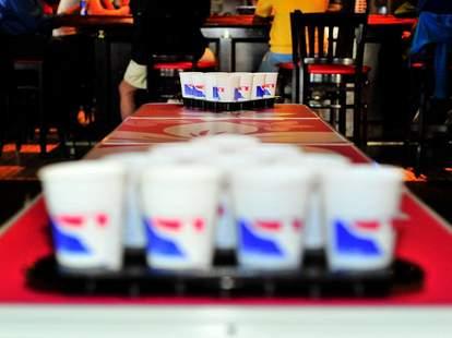 beer pong rack